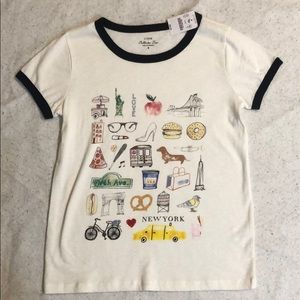 """J.Crew Collector Tees """"New York"""" Size Small"""